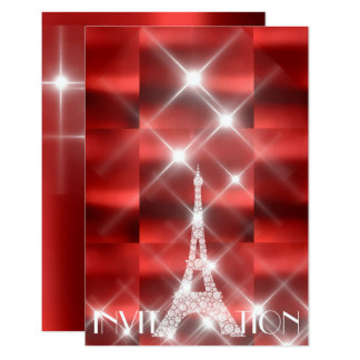 Cartão Diamante Sparkly do vinho tinto das estrelas de