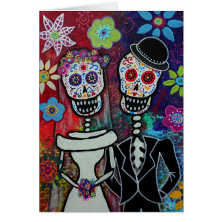 Cartão Diâmetro de los Muertos Casamento