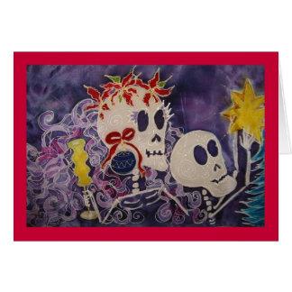 Cartão Diâmetro de los Muertos Natal Poins… -
