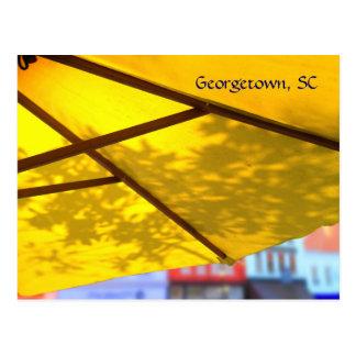 Cartão dianteiro do café da rua de Georgetown