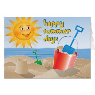 Cartão Dias de verão felizes