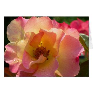 Cartão Diga eu te amo com um rosa