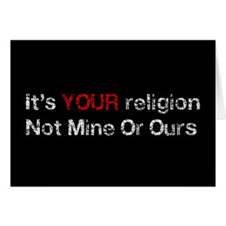 Cartão Diga não aos cultos do deus