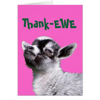 Cartão diminuto da cabra da Obrigado-OVELHA