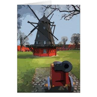 Cartão Dinamarca, moinho de vento