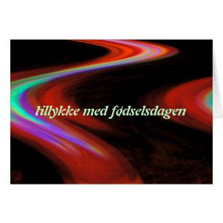 Cartão dinamarquês do feliz aniversario