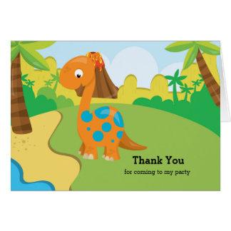 Cartão Dinossauro adorável