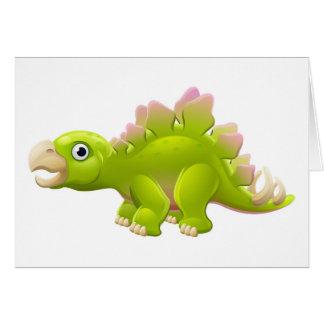 Cartão Dinossauro bonito dos desenhos animados do
