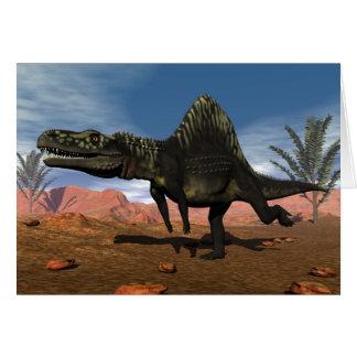 Cartão Dinossauro de Arizonasaurus - 3D rendem