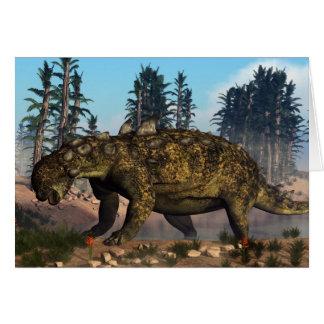 Cartão Dinossauro de Euoplocephalus - 3D rendem