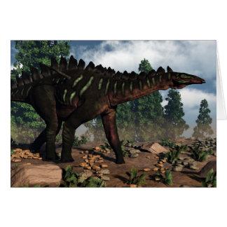 Cartão Dinossauro de Miragaia - 3D rendem