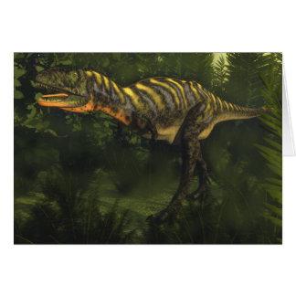 Cartão Dinossauro do Aucasaurus - 3D rendem