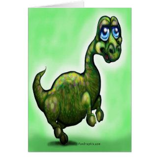 Cartão Dinossauro do bebê