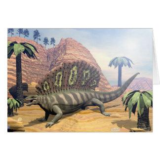 Cartão Dinossauro do Edaphosaurus - 3D rendem