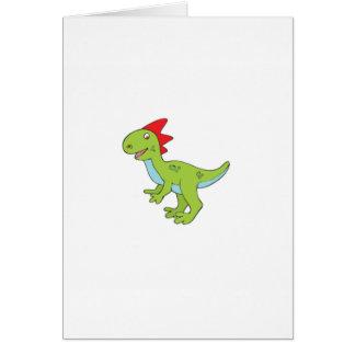Cartão dinossauro do rex do lagarto