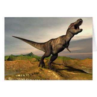 Cartão Dinossauro do rex do tiranossauro - 3D rendem
