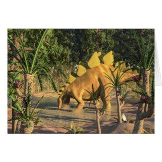 Cartão Dinossauro do Stegosaurus - 3D rendem