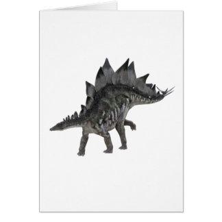 Cartão Dinossauro do Stegosaurus que move-se para a