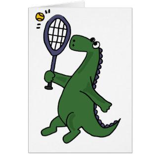 Cartão Dinossauro Funky que joga desenhos animados do