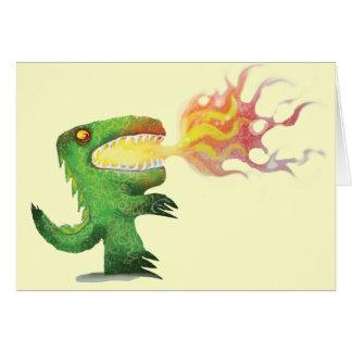 Cartão Dinossauro ou dragão por poucos t e Abdul Rasheed