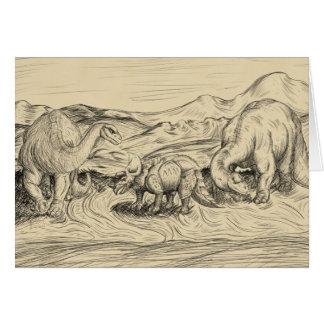 Cartão Dinossauros clássicos