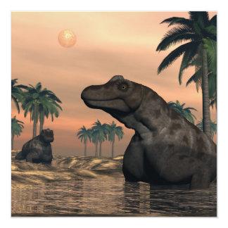 Cartão Dinossauros de Keratocephalus - 3D rendem