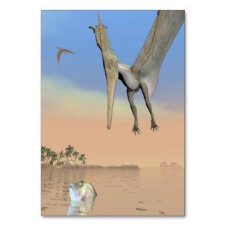 Cartão Dinossauros de Pteranodon que pescam - 3D rendem