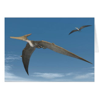 Cartão Dinossauros de Pteranodon que voam - 3D rendem