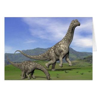 Cartão Dinossauros do Argentinosaurus - 3D rendem
