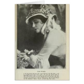 Cartão Diretor 1917 da fêmea do retrato do vintage de