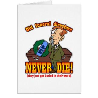 Cartão Diretores fúnebres