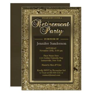 Cartão Diretório dourado elegante do escritório do