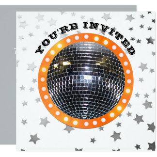 Cartão Disco 70s retro da festa de aniversário | da dança