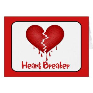 Cartão Disjuntor do coração com texto