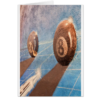 Cartão Disparado da ilustração das bolas de bilhar na