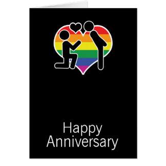 Cartão Disse o gay sim feliz do aniversário temático