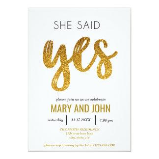 Cartão Disse sim a festa de noivado