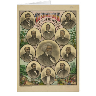 Cartão Distintos homens coloridos Frederick Douglass