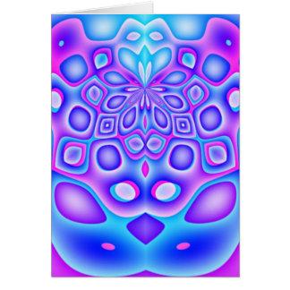 Cartão distorcido de Ramadan da geometria