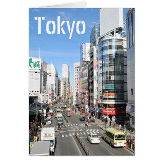 Cartão Distrito de Shinjuku em Tokyo, Japão