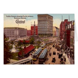 Cartão Distrito financeiro da avenida de Cleveland Ohio