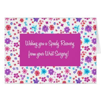 Cartão Ditsy bonito floral obtem bem da cirurgia do pulso