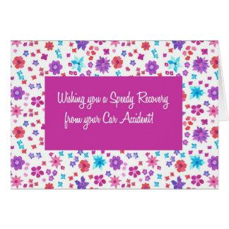 Cartão Ditsy bonito floral obtem bem do acidente de
