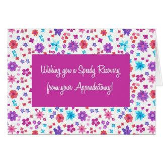 Cartão Ditsy bonito floral obtem bem do Appendectomy