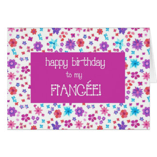 Cartão Ditsy bonito floral para o aniversário da noiva