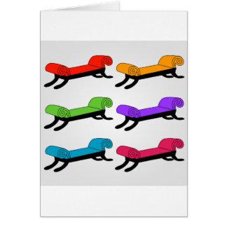 Cartão Divã coloridos