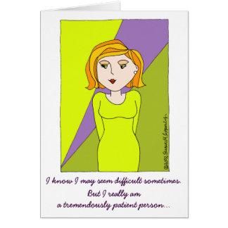Cartão Diva engraçada bonito menina estragada dos