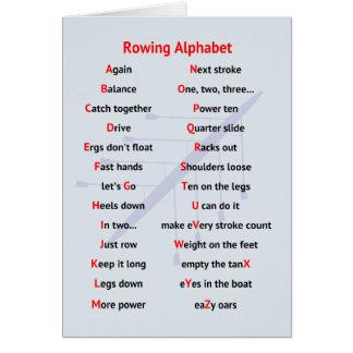 Cartão Divertimento A a Z do alfabeto do enfileiramento