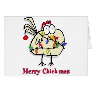 Cartão Divertimento alegre de Chick.mas