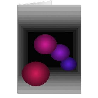 Cartão Divertimento da cor 3 esferas da infinidade da